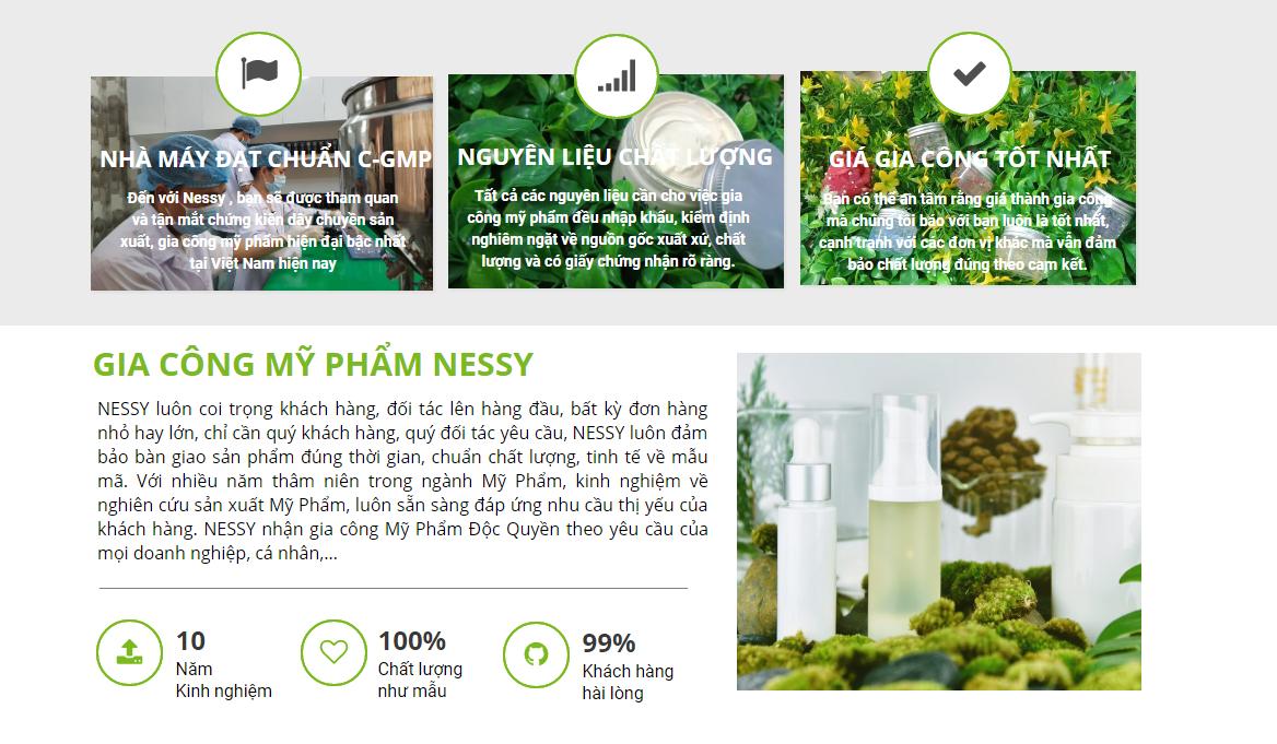 Gia công mỹ phẩm trọn gói độc quyền Nessy